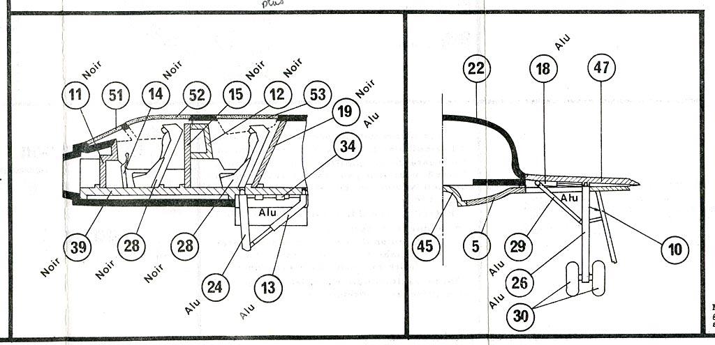 DASSAULT MIRAGE IV A 1/72ème Ref 351 Notice Mirage4-plan