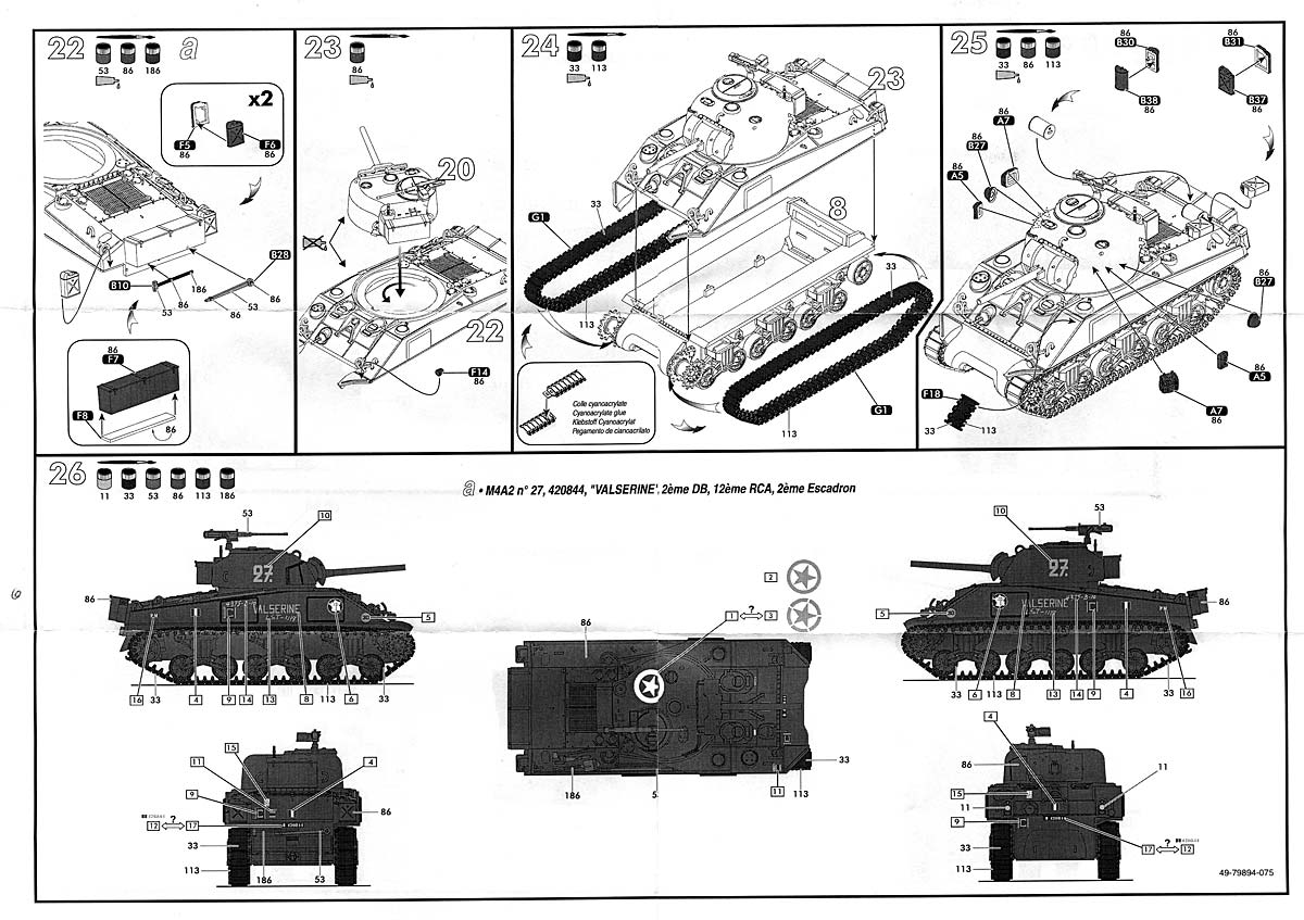 Sherman M4A2 Division Leclerc ref 79894 Plansherman3